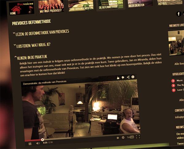 De nieuwe website van Prevoices